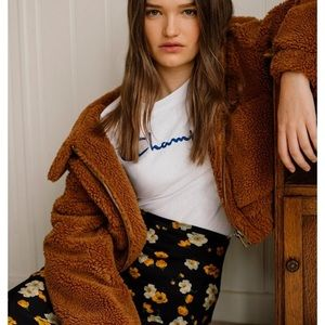 Urban Outfitters Brown Teddy Jacket